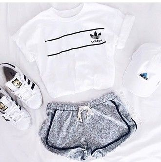 competitive price b0e4c ba51b Shirt  t-shirt, pink, cute, adidas superstars, adidas, cap, outfit, summer,  pink t-shirt, pink top, crop tops, instagram, shorts, pastel pink, hat,  top, ...