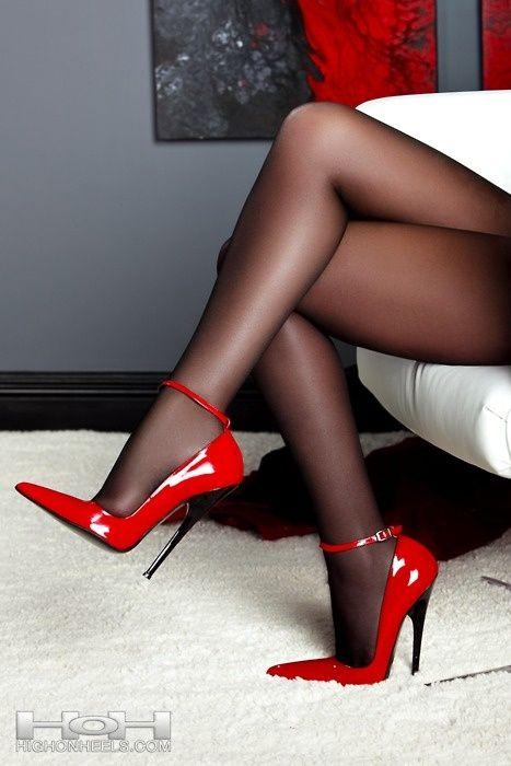 Nylon fetish shoe