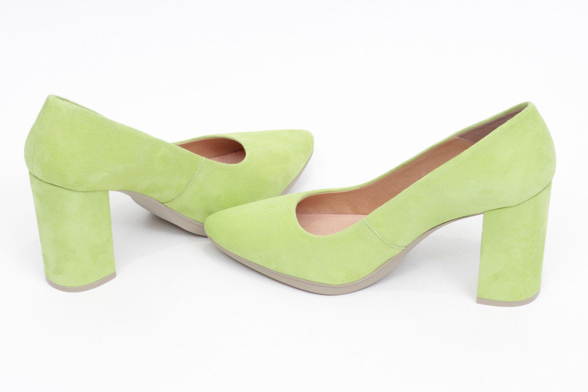 miMaO Urban verde lima - women high heels shoes lime green comfort pumps –  Zapato mujer salon de tacon azul vestir cómodo ab256064b39c
