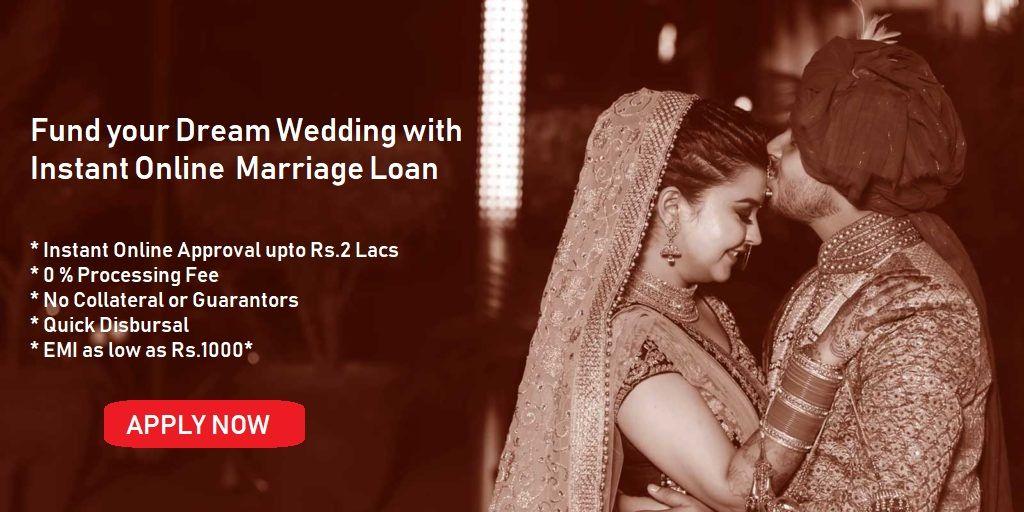 Marriage Loan Apply For Personal Loan For Wedding Wedding Loans Online Marriage Wedding Loans Personal Loans