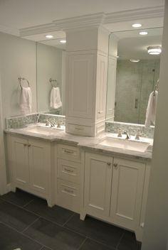 2 sink bathroom vanity. Master Bath Tall Cabinet In Center Of 2 Sinks - Google Search Sink Bathroom Vanity
