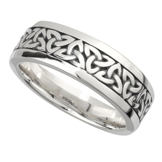 Irish Celtic Heart Love Knot Wedding Band 349 Liked On Polyvore Featuring Jewelry Rings Hea Celtic Wedding Bands Irish Wedding Bands Wedding Ring Tattoo