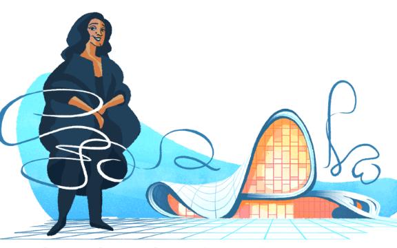 Mengenal Google Doodle hari ini, Zaha Hadid yang merupakan