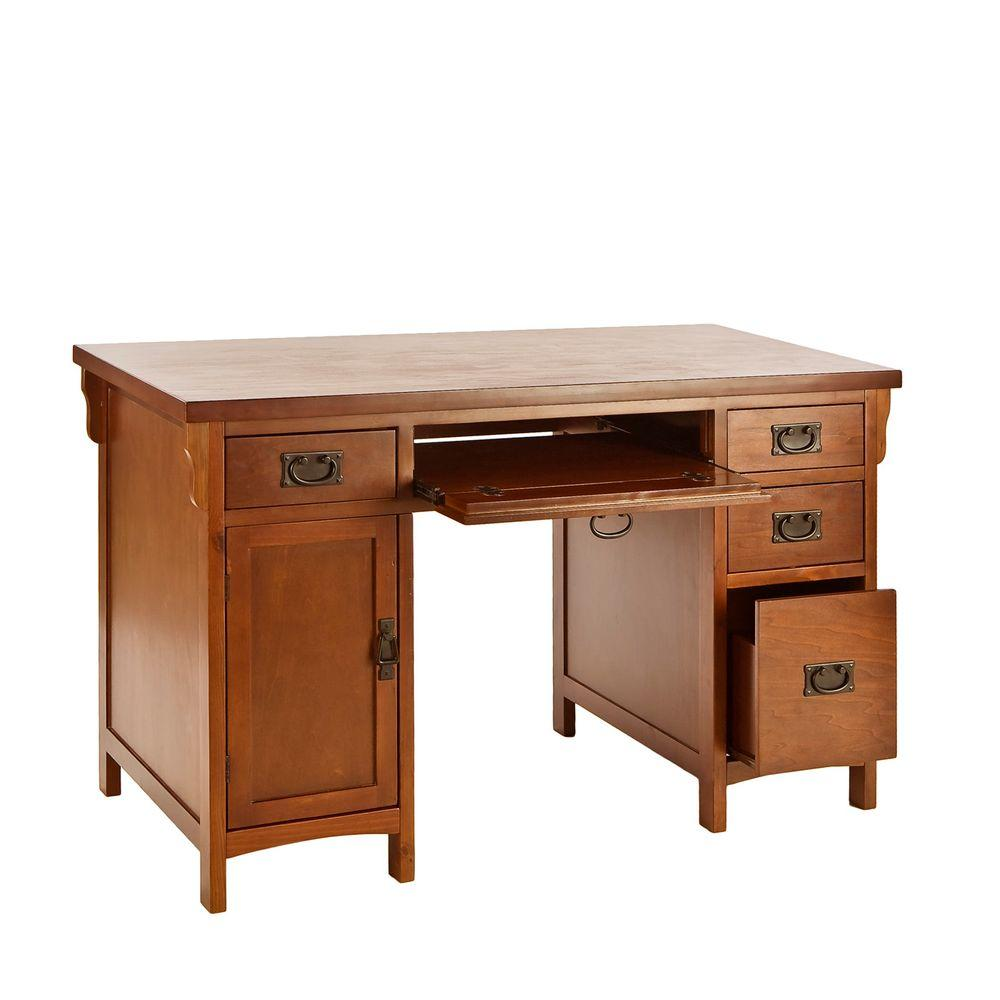 Unbranded Mahogany Storage Desk Ho8808 The Home Depot Desk Desk Storage Computer Desk