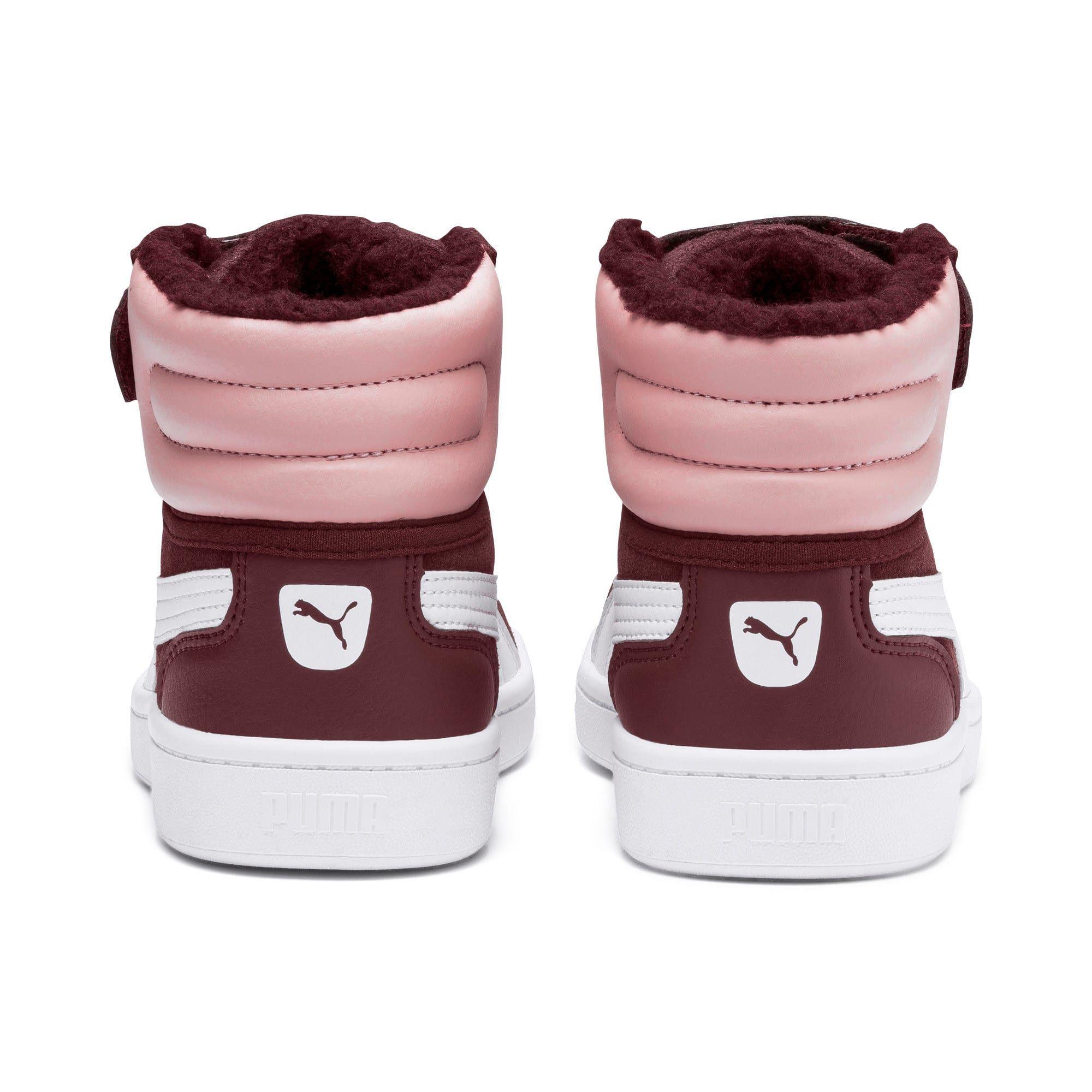 PUMA Chaussure Basket Vikky v2 Mid Fur V Kids, BlancRose