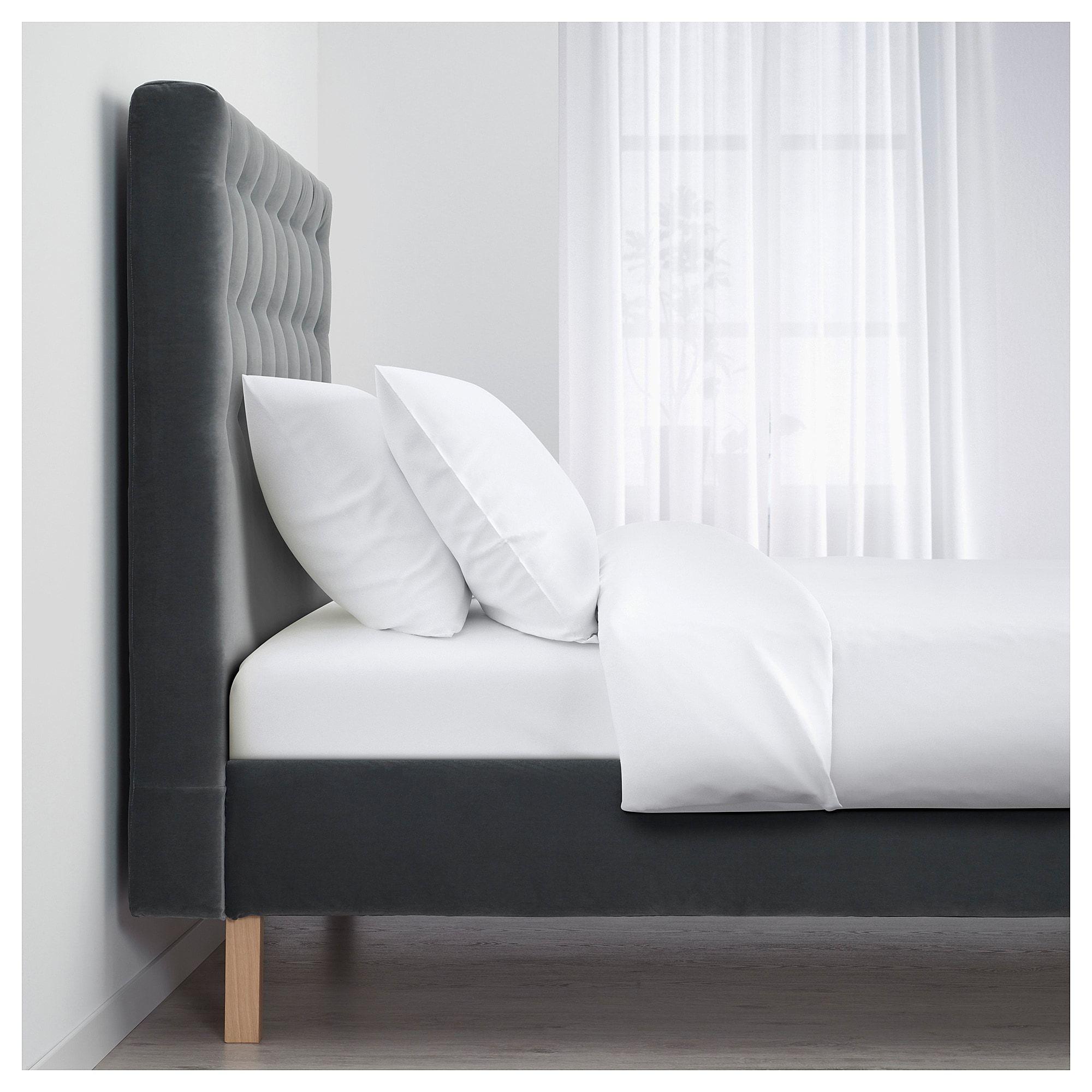 Ikea Kvalfjord Sandbacka Dark Gray Luroy Bed Frame Bed Frame