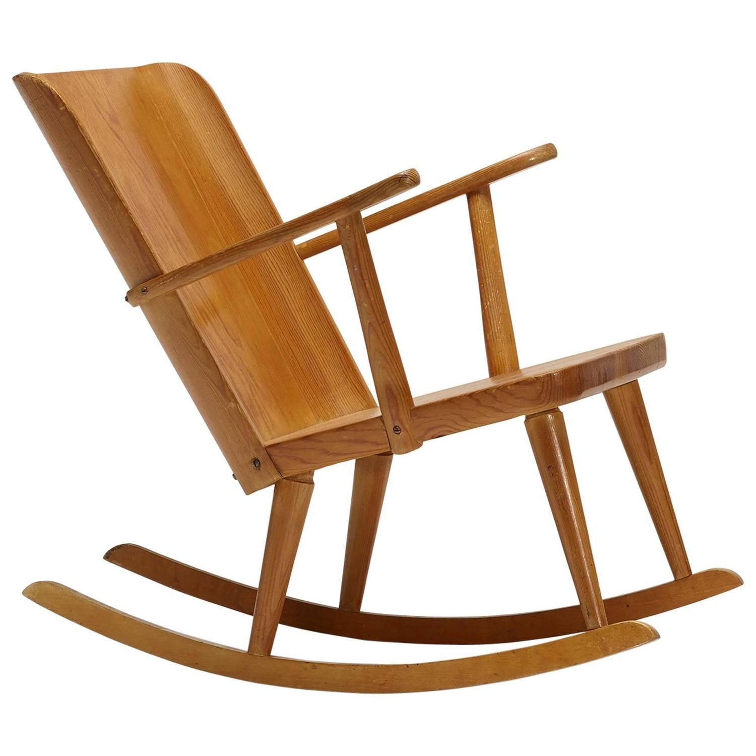 Pine Rocking Chair by Carl Malmsten | From a unique collection of antique  and modern rocking chairs at… - Pine Rocking Chair By Carl Malmsten Modernist Country Pinterest