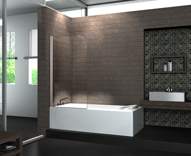 Duschkabine Badewanne Glas Badezimmer Kreativ Gestalten