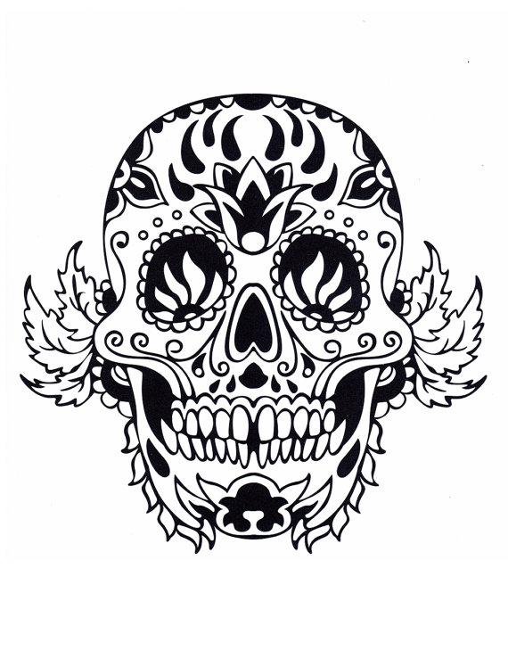 sugar skull coloring pages #diadelosmuertos #dayofthedead ...