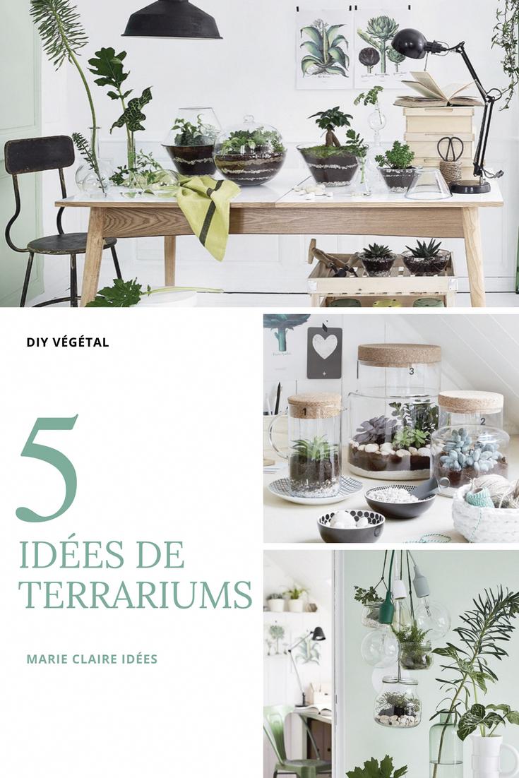 5 Idees Diy Pour Faire Un Terrariums Marie Claire Idees