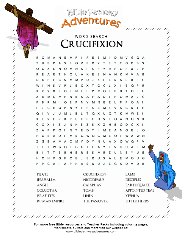 Bible Word Search Crucifixion