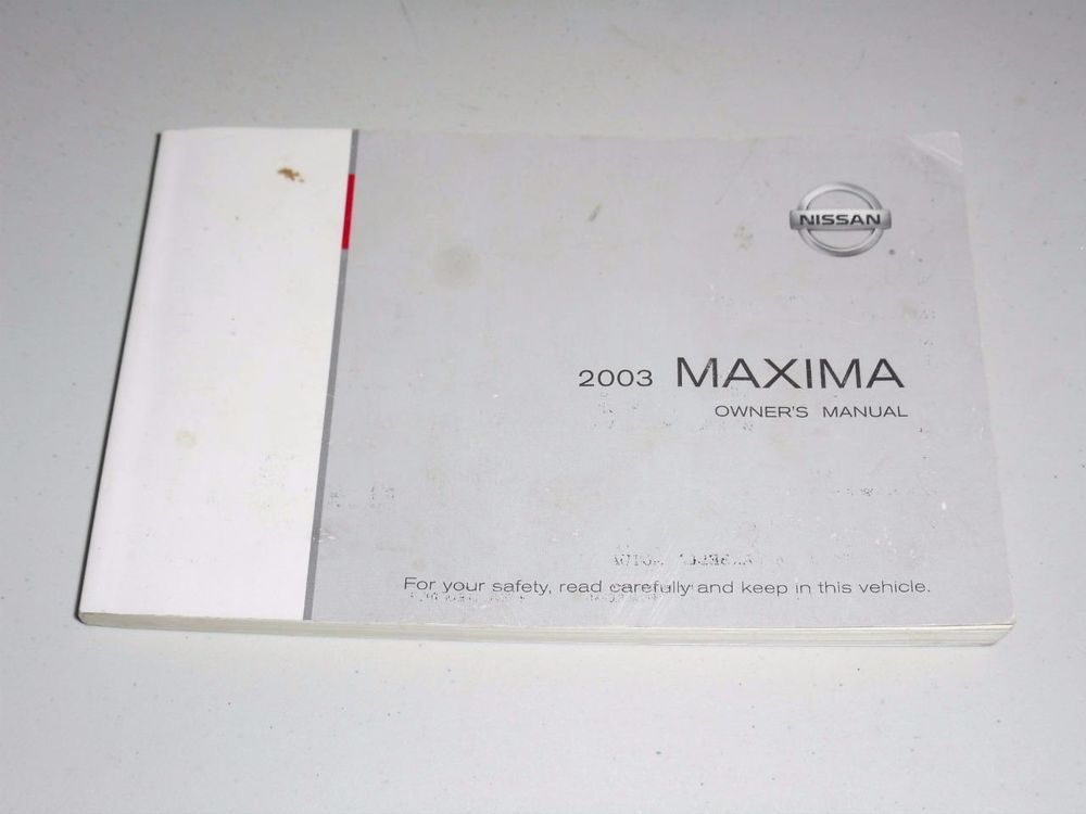 2003 nissan maxima owners manual book guide owners manuals rh pinterest com 2000 nissan maxima owners manual 2004 nissan maxima owners manual pdf