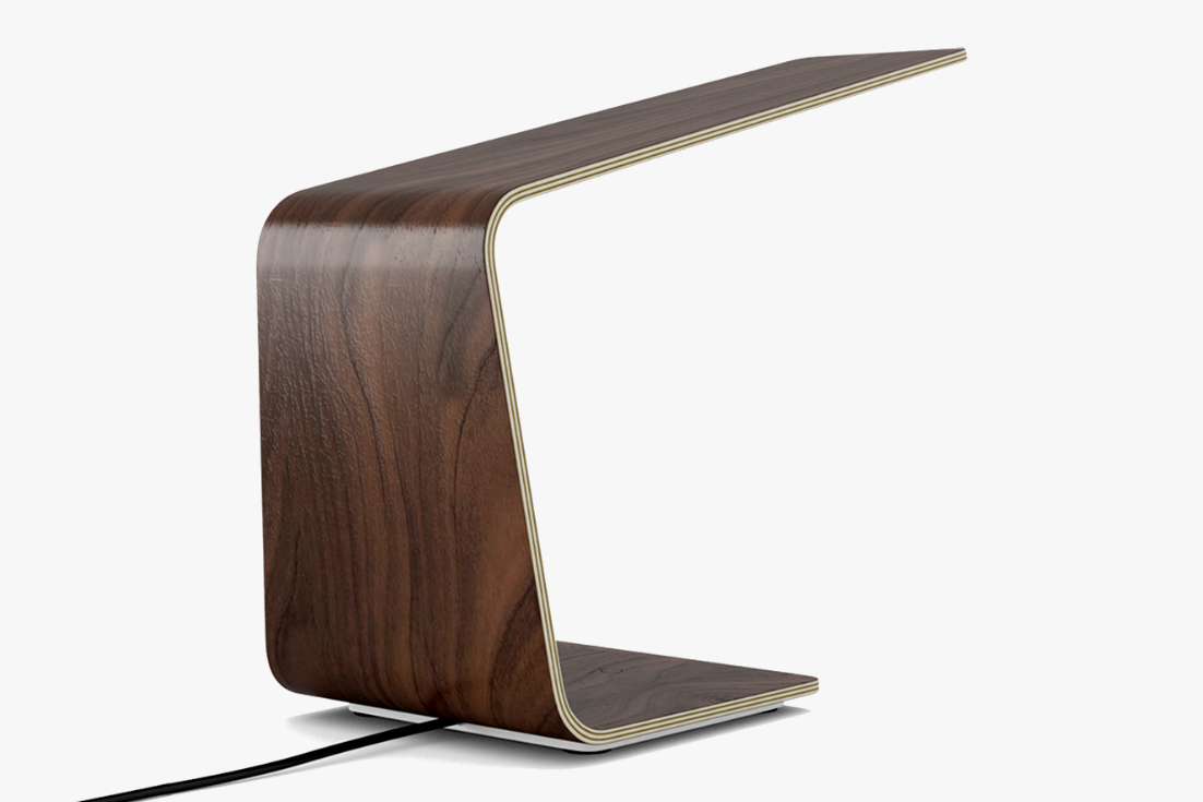 Led1 Desk Lamp In Walnut With Touch Sensitive Switch Wooden Light Lighting Concepts Light Decorations
