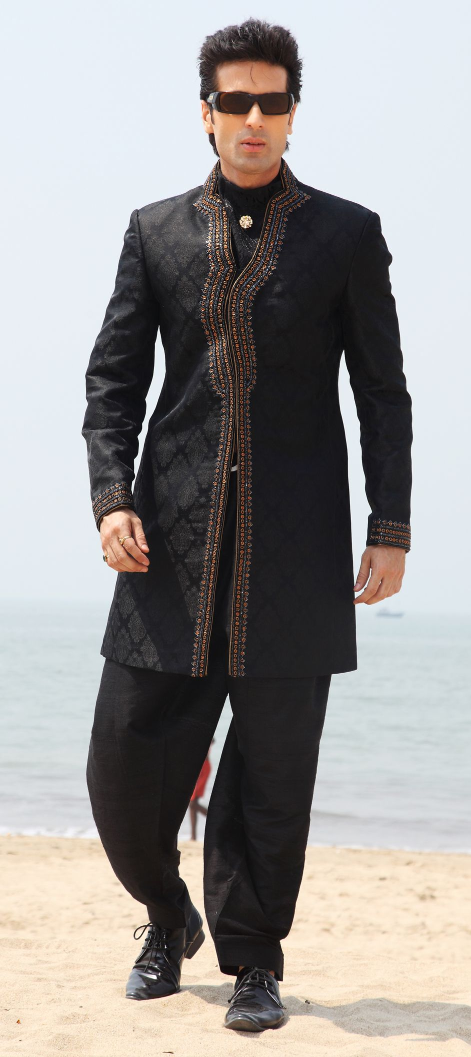 A new arrival indo western wear for men 39 s brocade for Indo western wedding dress for men