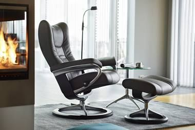 Fauteuil relax Stressless Wing M Classic Leg fort