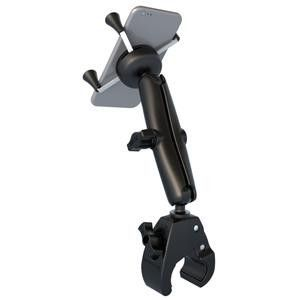 RAM Mount Universal Tough-Claw™ Base w-Long Double Socket Arm & Universal X-Grip® Cell-iPhone Cradle