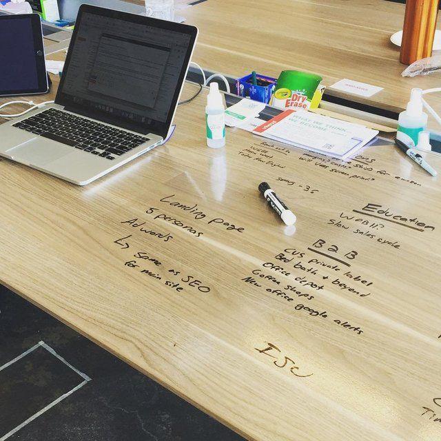 Think Board Clear Peel Stick Dry Erase Board Mit Bildern