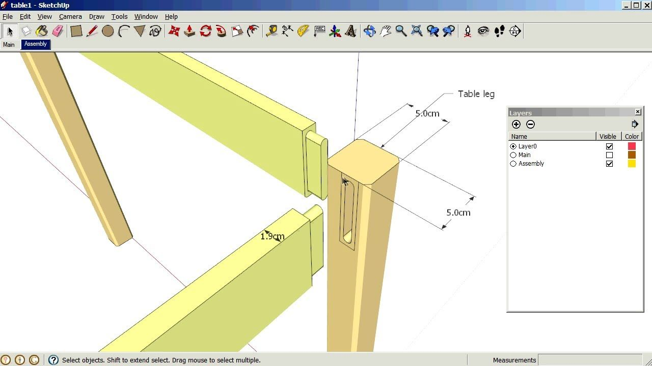 Sketchup Using Scenes And Layers Sketchup Woodworking Plans