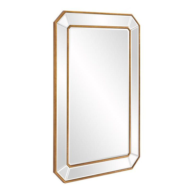 Briley Rectangle Gold Angled Accent Wall Mirror Nesting
