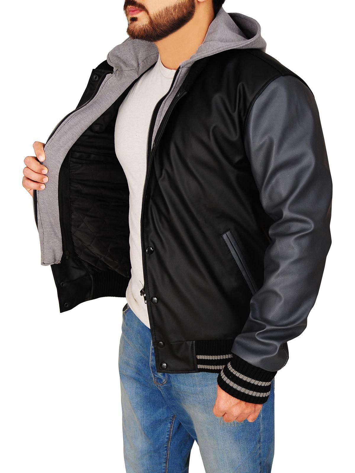 Varsity Black & Grey Hoodie Jacket Varsity hoodie jacket