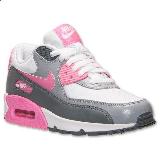 Womens Nike Air Max 90 Essential Running Shoes  FinishLinecom  White Pink