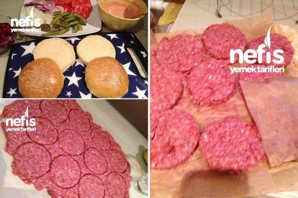 Photo of Homemade Hamburger Bread And Meat (with video) – Yummy Yemek Ta …
