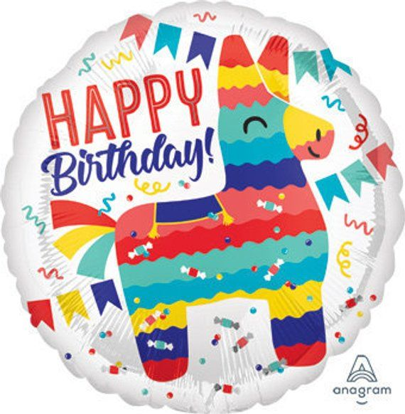 Sale HAPPY BIRTHDAY LLAMA Balloon Bohemian Boho Birthday Party