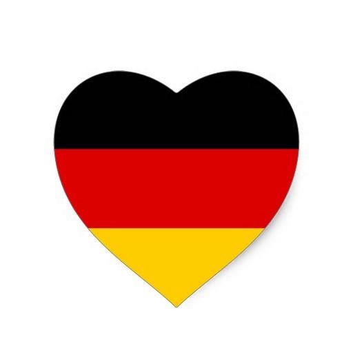 German Flag Heart Germany Flag German Flag Heart Stickers