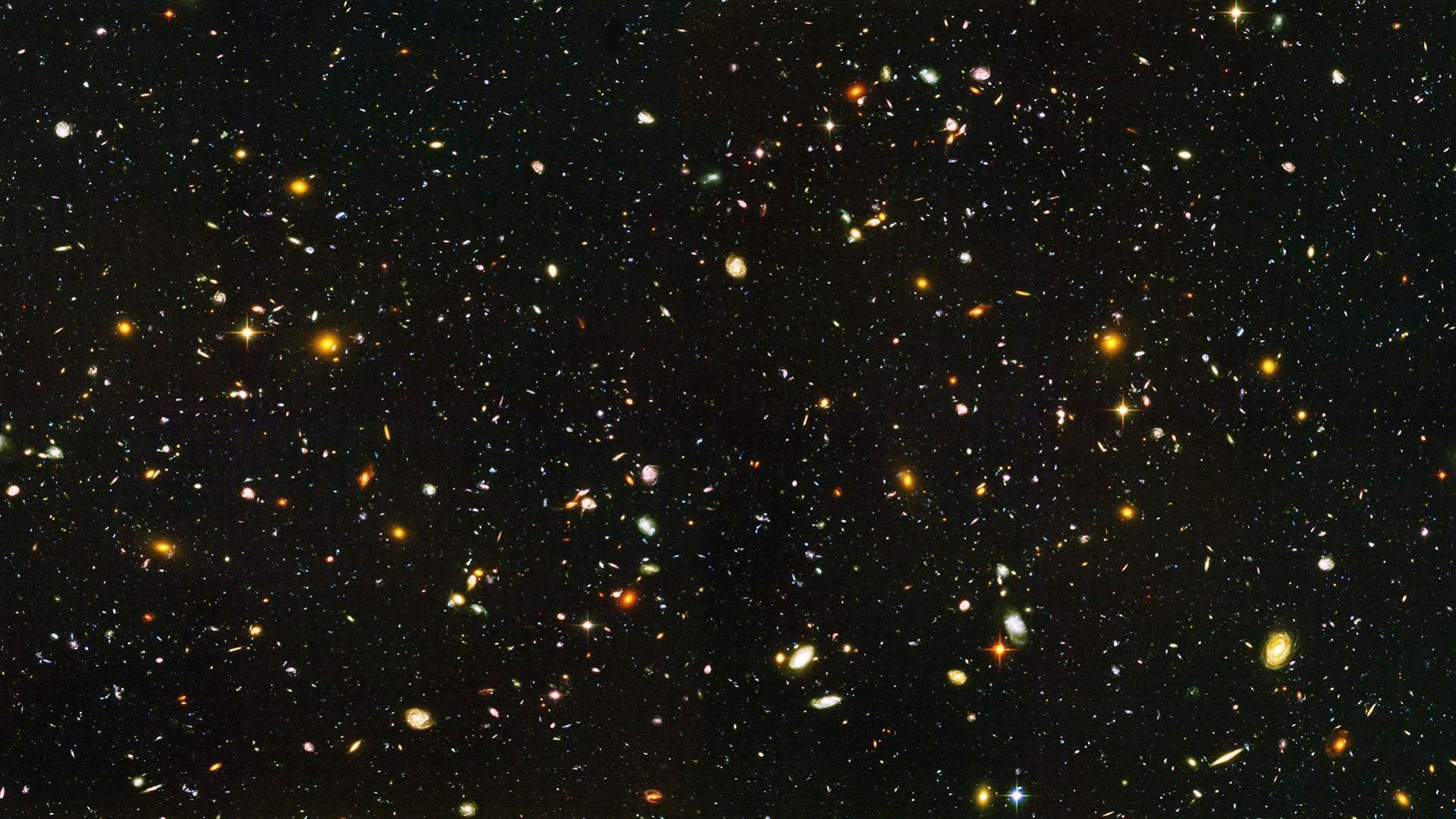 Hubble Ultra Deep Field Wallpaper 1600x900 Pics About Space Hubble Ultra Deep Field Hubble Deep Field Hubble