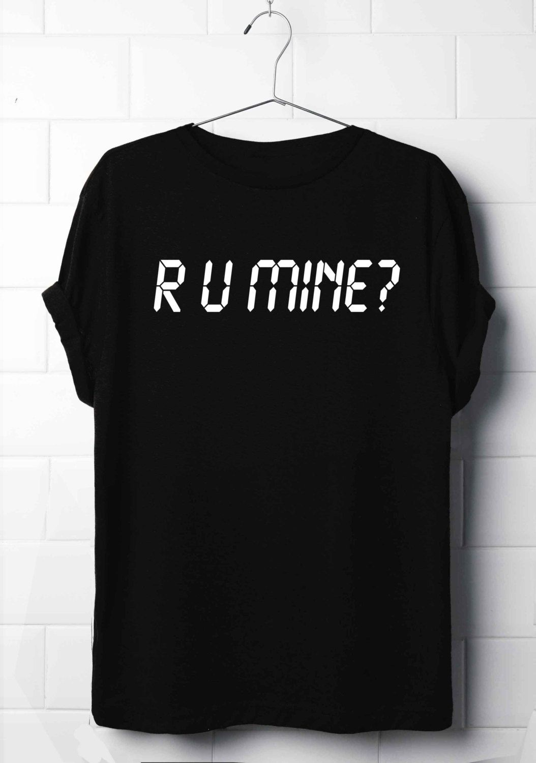 Black t shirt dress etsy - R U Mine T Shirt Arctic Monkeys T Shirt Lyrics T Shirt S