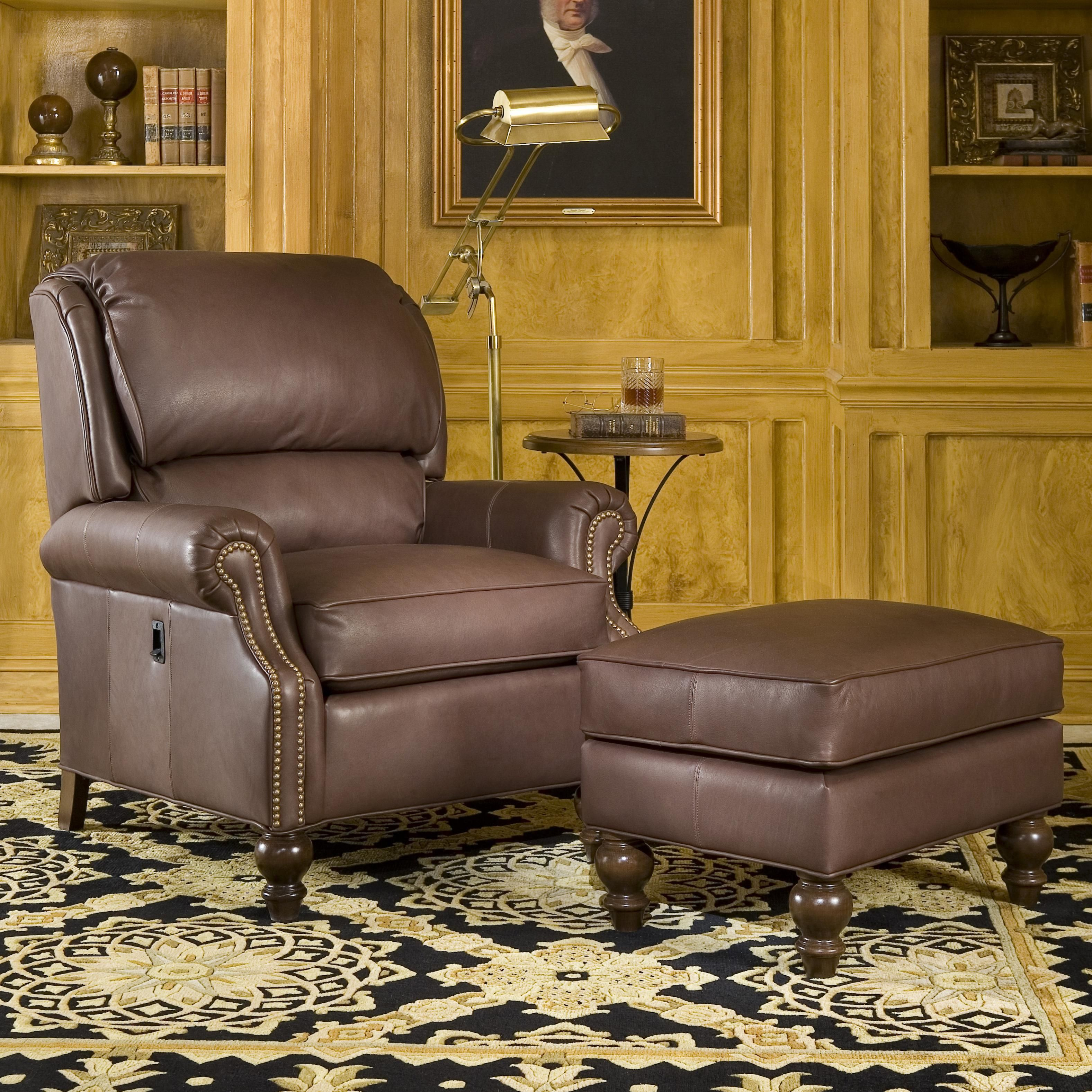 Tilt Back Chair Smith Brothers 950 Tilt Back Chair And Ottoman Combination At