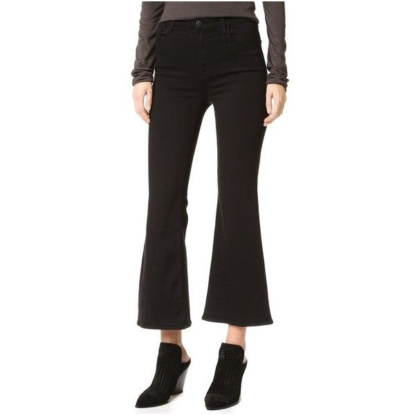 flared cropped jeans - Black J Brand