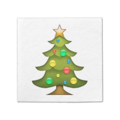 Christmas Tree Emoji Napkin Xmas Christmaseve Christmas Eve Christmas Merry Xmas Family Holy Ki Tree Emoji Christmas Wall Decal Christmas Wall Art