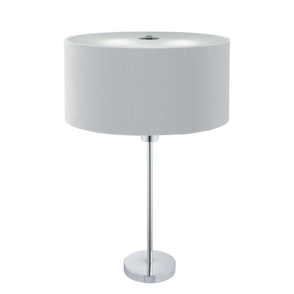 Searchlight 4562 2si drum pleat chrome 2 light table lamp with searchlight 4562 2si drum pleat chrome 2 light table lamp with silver shade from dushka aloadofball Images