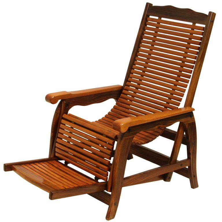 Marvelous Beautiful Brazilian Rosewood Reclining Slatted Lounge Chair. Itu0027s My Chair  Exactly, But Mine Has