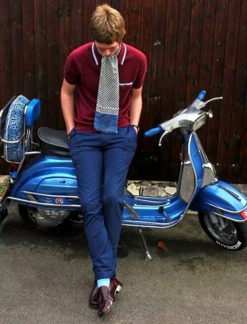 mods style outfit dress scooter vespa