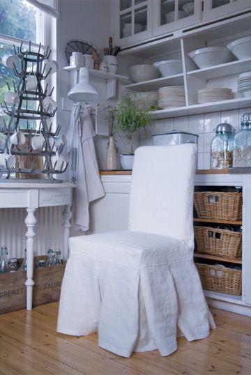 ikea chair bemz slipcover in belgian linen shown at llh designs