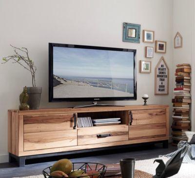 TV-Schrank Wildeiche natur geölt massiv Jetzt bestellen unter - wohnzimmer tv möbel