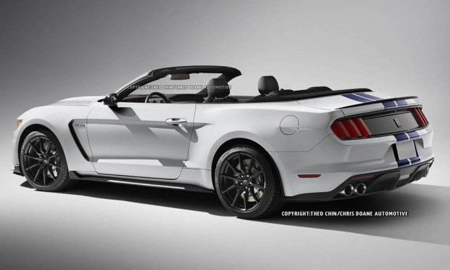 2016 ford mustang shelby gt350 convertible rendered - 2015 Ford Mustang Black Convertible