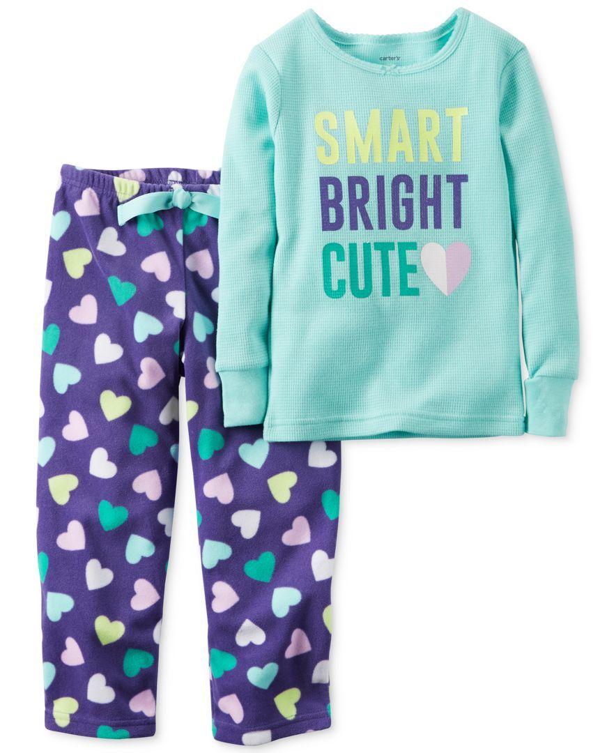 3405f43cb Carter s 2-Pc. Smart Bright Cute Pajama Set