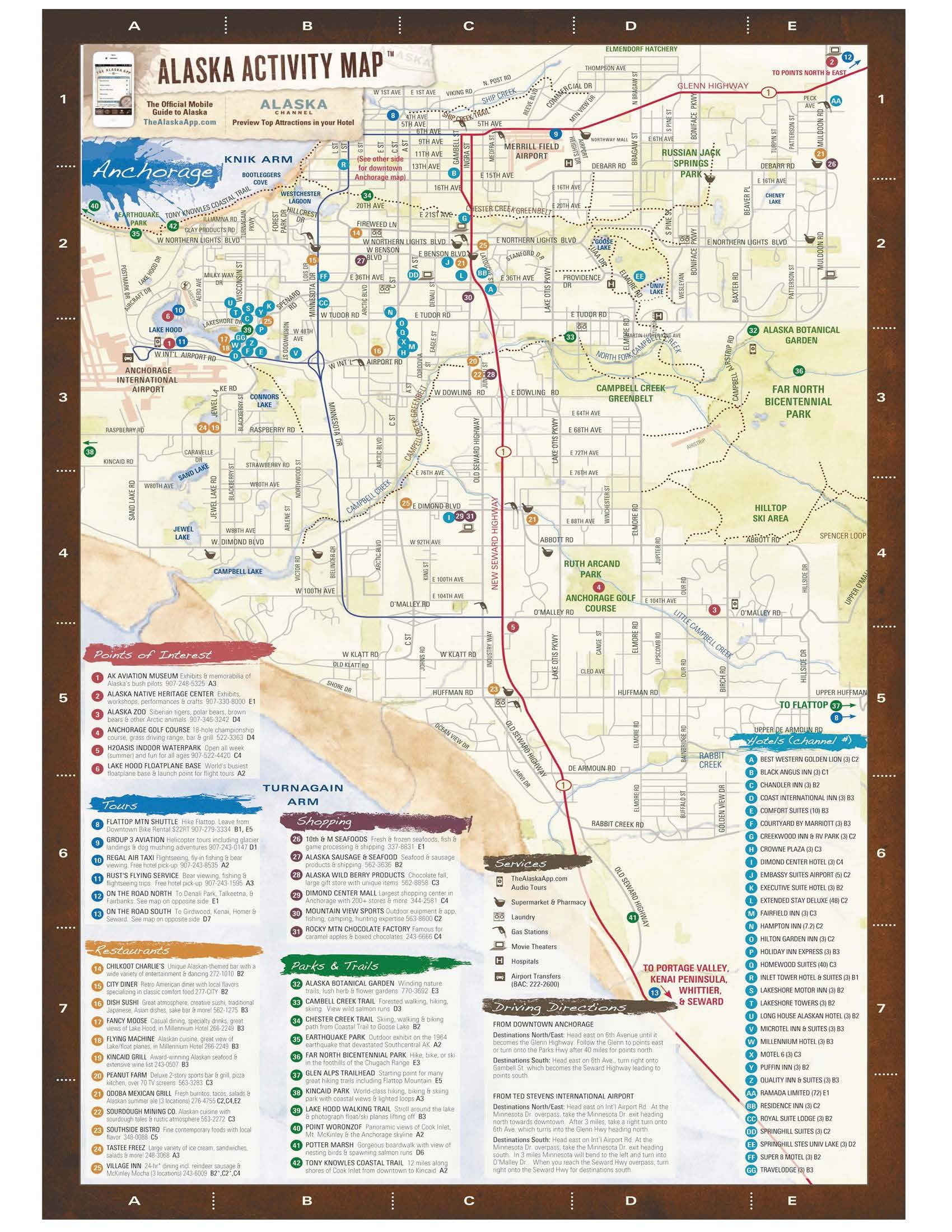 A map of the Anchorage Bowl, City of Anchorage in AK   Alaska Bucket ...