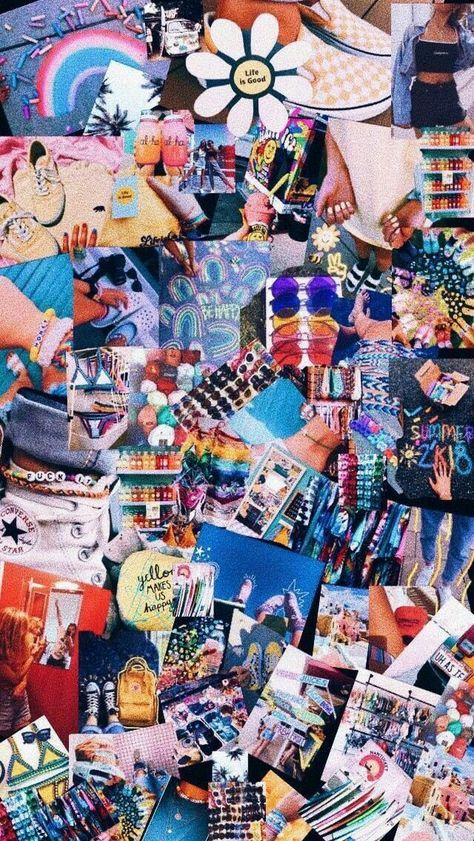 Best Rainbow Aesthetic Wallpaper Collage 34+ Ideas