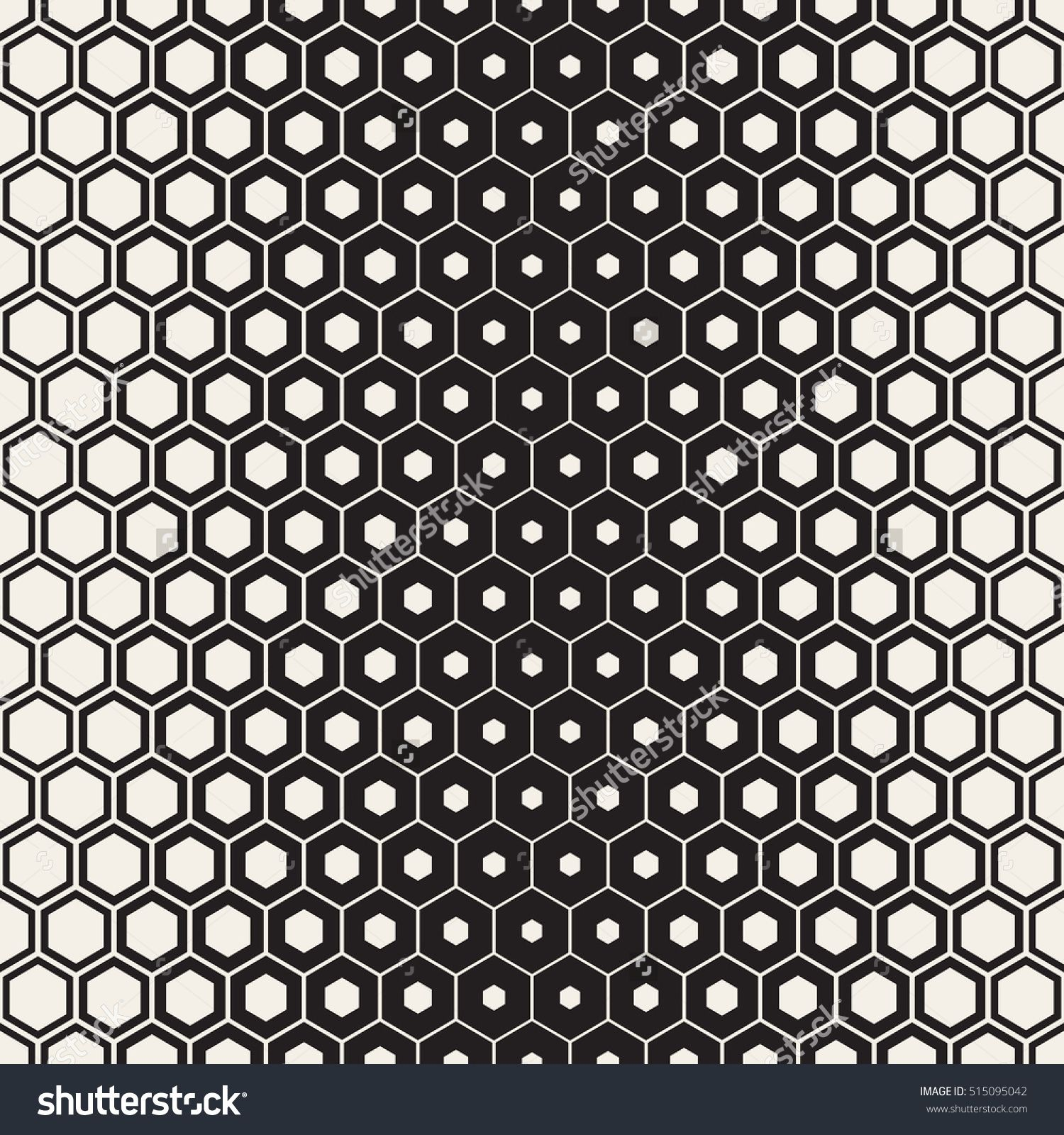 Vector Seamless Halftone HoneyComb Gradient Pattern Abstract