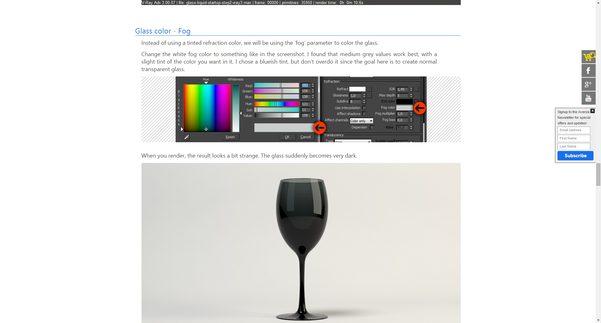 Glass Free Vray Tutorial How To Render Glass And Liquid