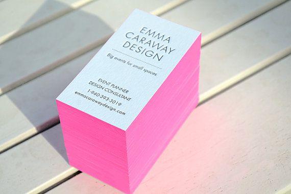 100 Letterpress Business Cards 1 Color 1 Side Rives 400 Gsm Paper Color Edges Letterpress Business Cards Letterpress Printing Letterpress Stationery