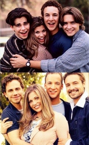 Boy Meets World cast, then and now. I'm so freakin excited for Girl Meets World. Hopefully it lives up to my ridiculously high expectations.