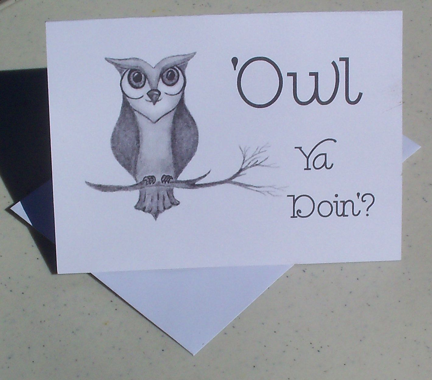 Owl thinking of you greeting card owl ya doin greeting card owl thinking of you greeting card owl ya doin greeting card note card greeting card sets blank cards art by loraartandstationery on etsy kristyandbryce Choice Image