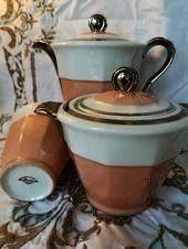 TeekannenSet Rosa und Silber Jugendstil Dreiteiliges Set Dekor à  Französisches Kaffee  TeekannenSet Rosa und Silber Jugendstil Dreiteiliges Set Dekor à...