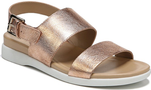 6f15a5afcd8 Naturalizer Emory Wedge Sandal in Metallic. This quarter-strap sandal  maintains sporty-chic