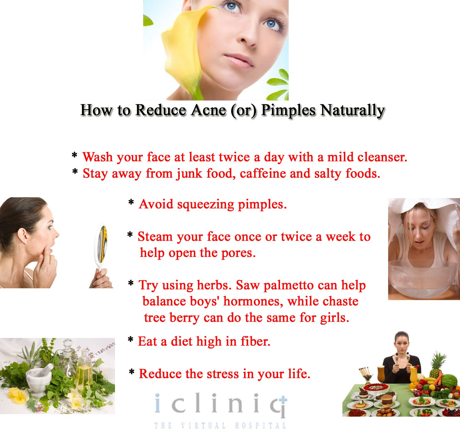 How to Reduce Acne or Pimples Naturally  Wash your face at